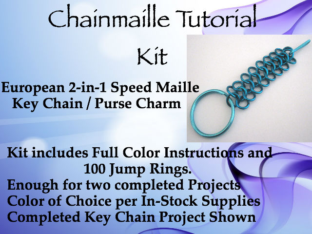 Chainmaille Tutorial Key Chain Kit on Handmade Artists' Shop